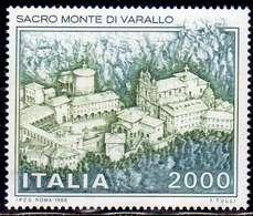 ITALIA REPUBBLICA ITALY REPUBLIC 1986 SACRO MONTE DI VARALLO HOLY MOUNTAIN LIRE 2000 MNH - 1981-90: Ungebraucht