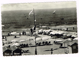 V4682 Forte Dei Marmi (Lucca) - Panorama Della Spiaggia - Beach Plage Strand Playa / Viaggiata 1953 - Italia