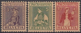 SUIZA 1917 Nº 154/56 NUEVO CON CHARNELA MUY FINA - Nuovi