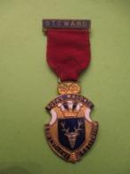 Médaille Franc-maçonique / Royal Masonic/Benevolent Institution/ Steward / Grande Bretagne/1951  MED362 - United Kingdom