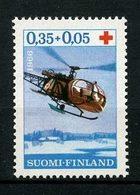 FINLANDE 1966  N° 582 ** Neuf MNH  Superbe  C 2 € Croix Rouge Red Cross Hélicoptère Sauvetage Ravitaillement Transpor - Finlande