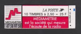 Carnet 2720-C3 - Marianne De BRIAT - Timbre N° 2720 - 2,50fr Rouge Adhésif Découpe Droite - Carnet Fermé - Neuf ** - Carnets