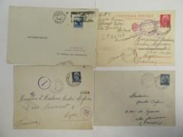 Italie - 4 Enveloppes Dont 2 Avec Marques De Censure De La Guerre 39-45 - 1942 à 1948 - Italy