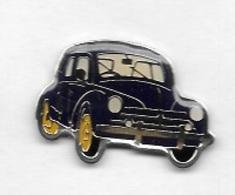 Pin's  Automobile  RENAULT  4 CV  Noire - Renault