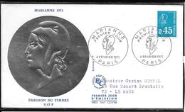 FDC 1971 - 1663 Marianne De Béquet: 0,45 - FDC