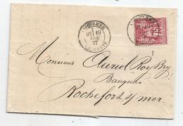 - CHARENTE - ANGOULEME Càd S/TP Sage N°71 T.I - 1877 - 1876-1878 Sage (Type I)