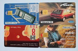 4  TELECARTES  PRIVEES  PUBLIQUES - Francia