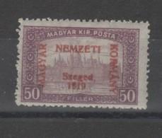 Hongrie - Szeged (1919) Timbres  Surch.  N°12 Imprimé Recto Verso Neuf - Szeged
