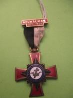 Médaille Franc-maçonique / Grand Commandery/Wisconsin/avec Barrette MILWAUKEE/1905                       MED367 - USA
