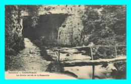 A814 / 423 38 - SASSENAGE Grotte Carrée Et La Passerelle ( Timbre Surcharge ) - Sassenage