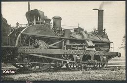 Locomotives De L'EST. Machine N° 177 Du Type 210 - H. M. P.  N° 137 - See 2 Scans - Trains