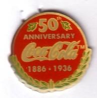C229 Pin's Coca Cola Coke 50 ANNIVERSAIRE Achat Immédiat - Coca-Cola
