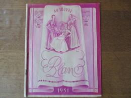 AU LOUVRE  CATALOGUE BLANC 1951 16 PAGES - Advertising