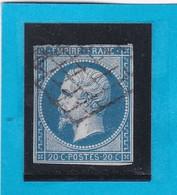 N° 14A  + CACHET GRILLE JOUR DE L'AN  - REF 14112 - 1853-1860 Napoléon III