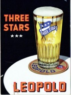 Publicité Bière. Brasserie Léopold. Three Stars. - Pubblicitari