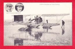 Aviation-227A10  L'hydro-aéroplane Des Frères CAUDRON, Sur L'eau En Médaillon Photo Des Frères, Cpa BE - ....-1914: Precursors