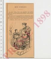 Presse 1898 Humour Allaitement Lait Maternel Bébé Qui Tête Sa Mère Au Sein 222ZG - Old Paper