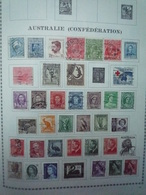 COLLECTION AUSTRALIE Feuilles Album - Neuf Et Oblitéré - A Voir - 11 Scans - Sammlungen (im Alben)