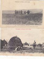 "4 CPA PEU COURANTES .CAMPAGNE DU MAROC 1907-1908.EDITEES ""INTER ARMA CARITAS"" N.CIRCULEES.ETAT T. CORRECT.A SAISIR - Andere Kriege"