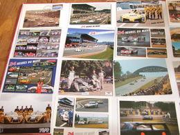 LE MANS 24 HEURES DU MANS AUTOMOBILE LOT DE 170 DOCUMENTS 61 CARTES POSTALES 21 PHOTOS REVUE LIVRES POSTER CARTE TELEPHO - Le Mans