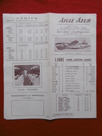 LIGNE PARIS SAIGON HANOI COMPAGNIE AERIENNE AIGLE AZUR STRATOLINER HORAIRES TARIFS 1952 - Monde