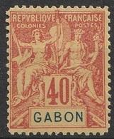 Gabon 1904-07 N° 26 MH Faux De FOURNIER (F21) - Gabon (1886-1936)