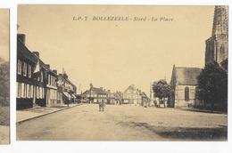59 - HERZEELE   - L'Hospice Et L'École  Rue De Wormhoudt      JYV - Autres Communes