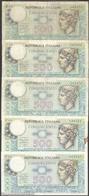 TWN - ITALY 94a (A.555) - 500 Lire 14.2.1974 DEALERS LOT X 5 - Signatures: Miconi, Nardi & Fabiano VG/F - [ 2] 1946-… : Repubblica