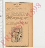 Presse 1898 Humour Henri Paul Préfet D'Alger Chez Le Bourreau Roseneur Guillotine En Dessin 222ZG - Alte Papiere