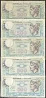 TWN - ITALY 94b (A.557) - 500 Lire 2.4.1979 DEALERS LOT X 5 - Signatures: Ruggiero, Impallomeni & Betti VG/F - [ 2] 1946-… : Repubblica