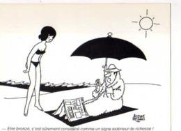 Jacques FAIZANT Etre Bronze C'est Surement Considere Comme Signe Exterieur De Richesse, Parapluie - Faizant
