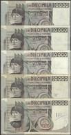 TWN - ITALY 106b1 (A.862) - 10000 10.000 Lire 6.9.1980 DEALERS LOT X 5 - Signatures: Ciampi & Stevani VG/F - [ 2] 1946-… : Repubblica