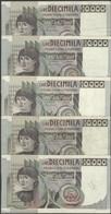 TWN - ITALY 106b2 (A.863) - 10000 10.000 Lire 3.11.1982 DEALERS LOT X 5 - Signatures: Ciampi & Stevani VG/F - [ 2] 1946-… : Repubblica