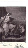 CP SALON 1900 Femmes Peintre Tableau Ange Paul WEIFS Femme Robe Dé Nue Dé Seins Nus Angelot Adr POITIERS 86 Ferrand - Schilderijen