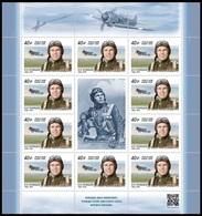 RUSSIA 2020 Sheet MNH VF ** Mi 2839 KOZHEDUB WW2 GUERRE WAR SOVIET HERO USSR Pilot Flyer Aviator AIR FORCE AIRPLANE 2616 - Blocks & Sheetlets & Panes