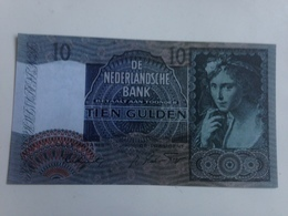 Billete Holanda. 10 Gulden. 1941. Amsterdam. II Guerra Mundial. Réplica. Sin Circular - [2] 1815-… : Kingdom Of The Netherlands