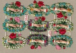 Littauer & Boysen L & B N° 2640 - SCRAP -  DECOUPIS  - Gaufré / Embossed - Hands Silk Flowers / Mains Fleurs En Soie - Flowers