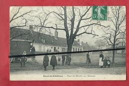 CPA Décollée -  Auxi Le Château - Place Du Marché Aux Bestiaux - Auxi Le Chateau