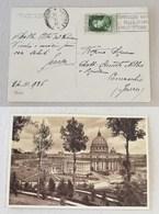 Cartolina Città Del Vaticano Per Comacchio . 26/11/1936 Affrancata Con 25cent. Esposiz. Mondiale Stampa Cattolica - Storia Postale