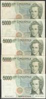 TWN - ITALY 111b1 (A.811) - 5000 5.000 LIRE 12.1.1988 DEALERS LOT X 5 - Signatures: Ciampi & Speziali VG/F - [ 2] 1946-… : Repubblica