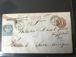 GÄ32343 Württemberg Ganzsache Stationery Entier Postal U 15 Von Eningen Mit Einschreiben!!!! Nach Pössneck - Schleswig-Holstein