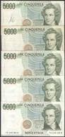 TWN - ITALY 111b2 (A.812) - 5000 5.000 LIRE 10.9.1992 DEALERS LOT X 5 - Signatures: Ciampi & Speziali VG/F - [ 2] 1946-… : Repubblica