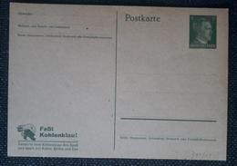 DR 1934, Postkarte P311/01 Faßt Kohlenklau, Ungebraucht - Allemagne