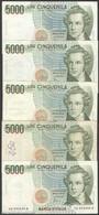 TWN - ITALY 111c (A.813) - 5000 5.000 LIRE 26.11.1996 DEALERS LOT X 5 - Signatures: Fazio & Amici VG/F - [ 2] 1946-… : Repubblica