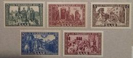 Sarre, Série 1950, 278 à 282, Timbres Neufs *. Cote 60 Euros, Trace De Charnière Très Peu Marquée - Neufs