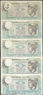 TWN - ITALY 95 (A.556) - 500 Lire 20.12.1976 DEALERS LOT X 5 - Sign. Ventriglia, Impallomeni & Ventura Signoretti VG/F - [ 2] 1946-… : Repubblica