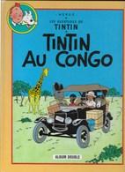 ALBUM DOUBLE TINTIN AU CONGO + TINTIN EN AMERIQUE 6/7 - Tintin