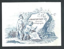 +++ CPA - Carte Porcelaine - Porseleinkaart - Carte De Visite - Graveur - Lithographe -  FRANKFURTHER  // - Porzellan