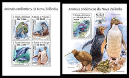 S. TOME & PRINCIPE 2020 - Endemic Fauna NZ2020, M/S + S/S. Official Issue [ST200213] - Philatelic Exhibitions