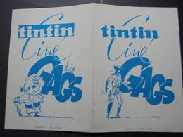 """TINTIN - CINE GAGS - JEUX EN CARTON  : PIECES A DETACHEES, VOIR SCAN  """"DEPLIANT"""" - Group Games, Parlour Games"""